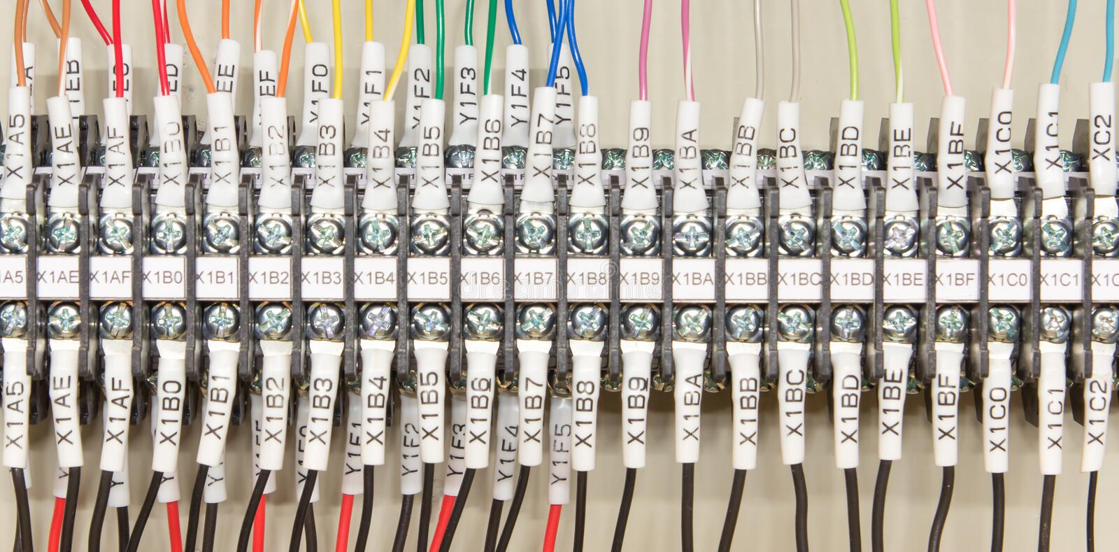 wiring plc control panel wires industrial factory 43603385 wiring plc stock photo image 43603385 plc control panel wiring diagram pdf at reclaimingppi.co