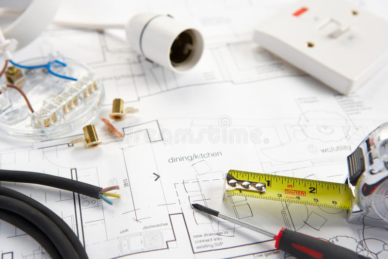 Download Wiring tools and materials stock photo. Image of building - 22001560