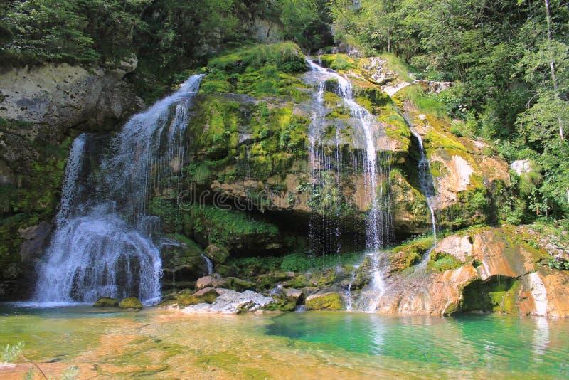 Wirje-Wasserfall, Julian Alps, Slowenien