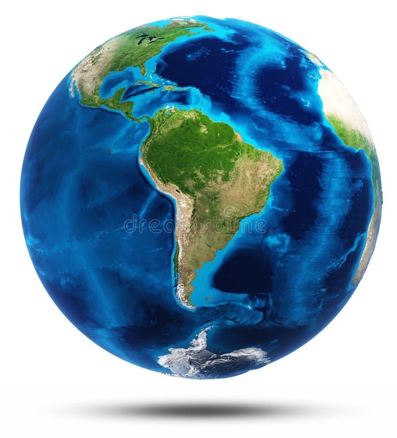 Wirkliche Gebirgsentlastung Südamerikas stock abbildung