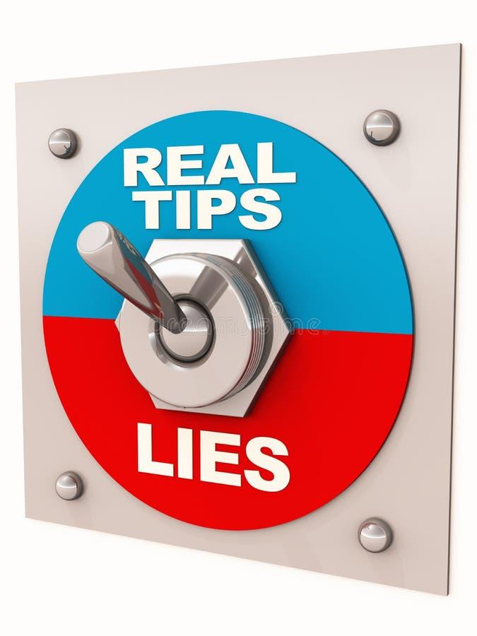 Wirkliche Tipps gegen Lügen lizenzfreie abbildung
