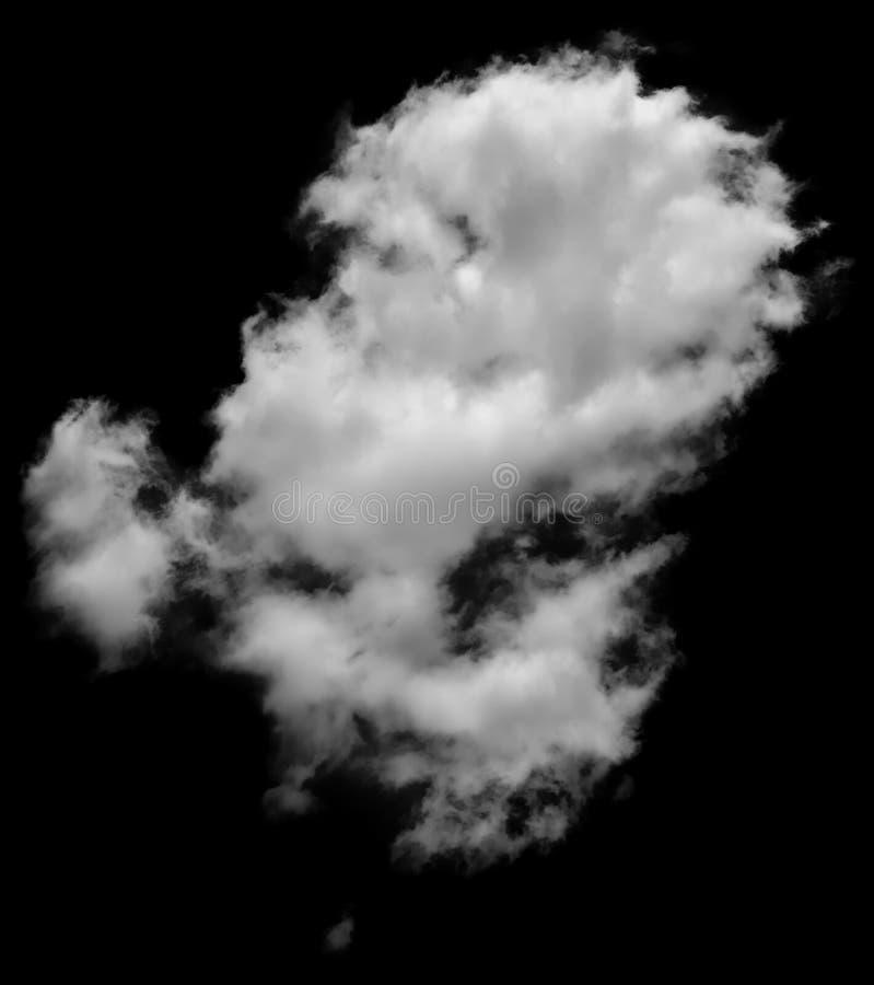 Wirkliche Wolke, die wie Dampf auf schwarzem Hintergrund aussieht stockfotografie