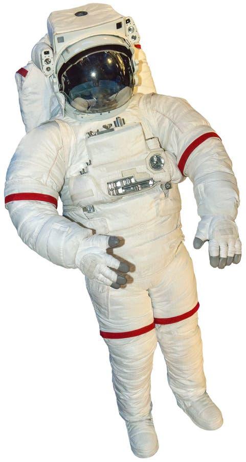 Wirklicher Astronaut Spacesuit Isolated stockfotos