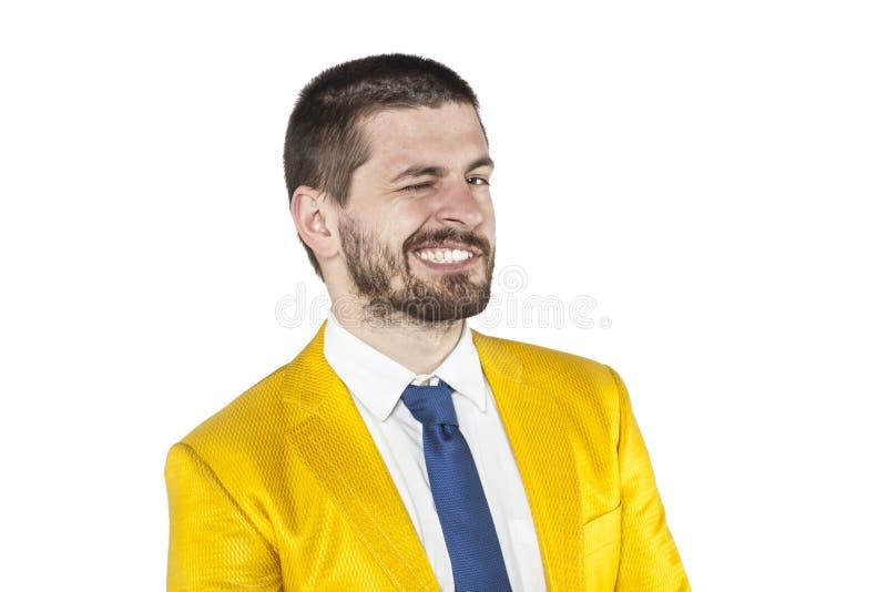 Wirklicher Frauenheld, Mann Winks lizenzfreies stockfoto