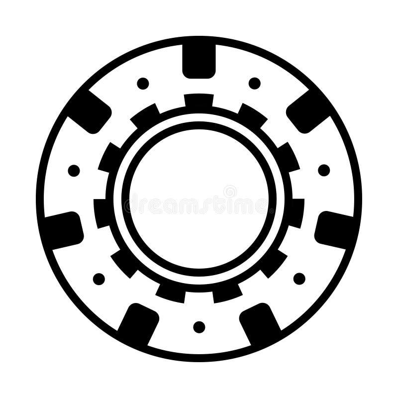 Wirklicher schwarzer Kasinopokerchip vektor abbildung