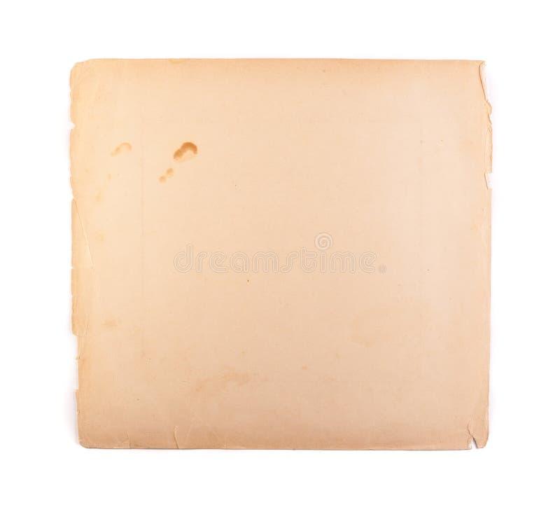Wirkliches gealtertes beige sch?biges und zerknittertes Blatt Papier Weinlesepapierbeschaffenheit und antikes Kunstkonzept stockfotos