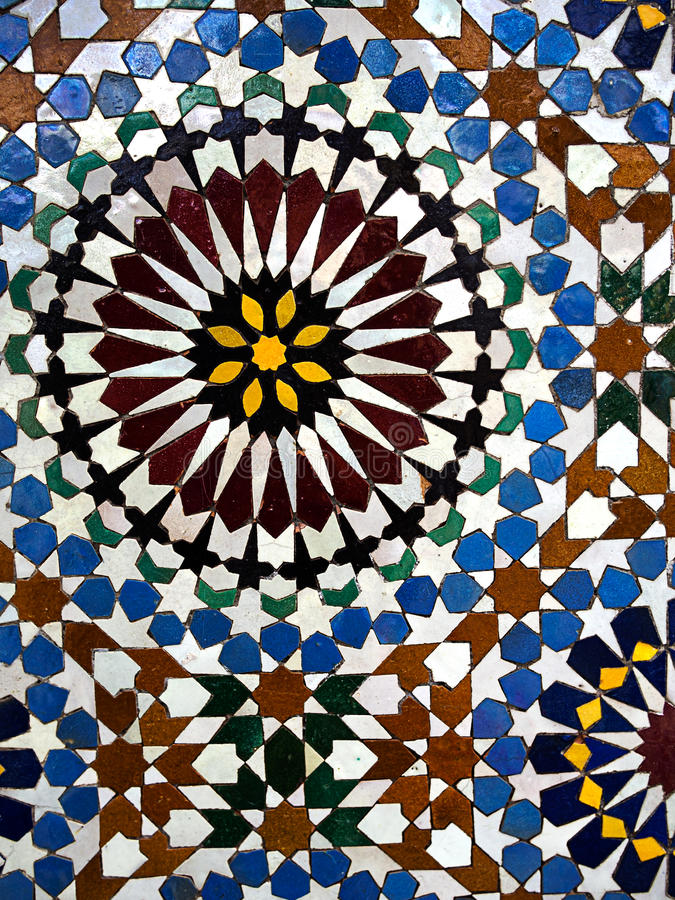 Italienisches Mosaikdetail - helle Farben lizenzfreie stockfotografie