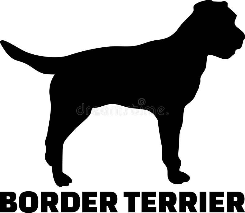 Wirkliches Wort des Border Terrier-Schattenbildes vektor abbildung