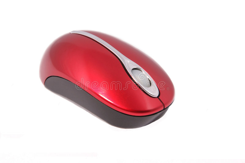 A wirless computer mouse stock image