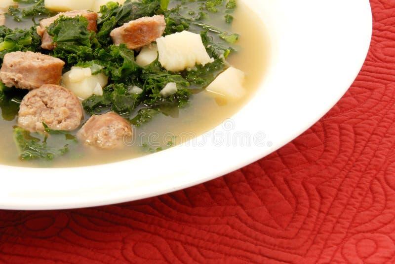 Wirsingkohl-Suppe stockbild