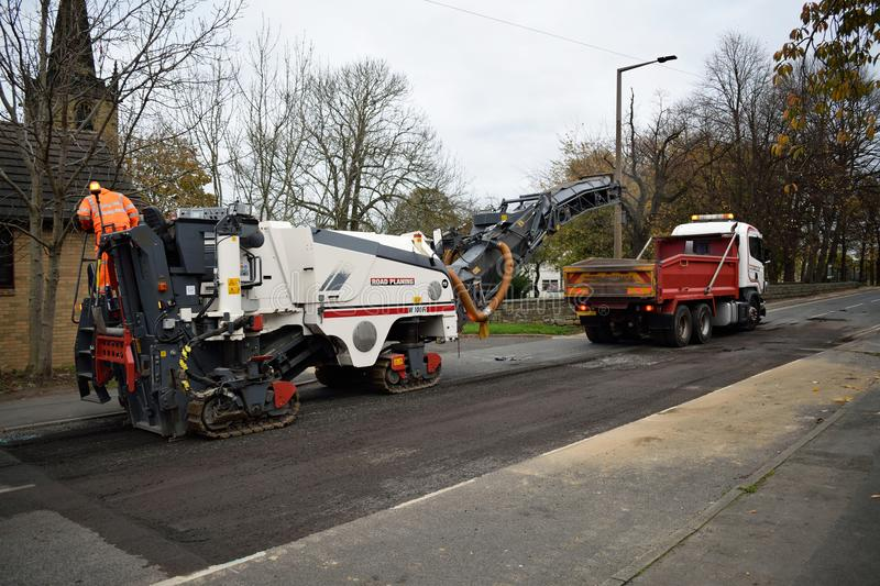 Wirtgen Cold Road Asphalt Milling And Planing Machine stock photos