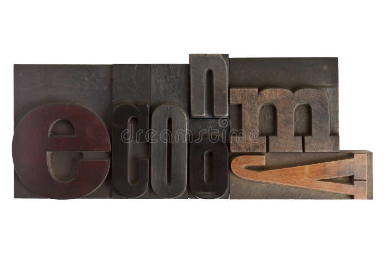 Wirtschaft, Wort geschrieben in Briefbeschwererart Blöcke lizenzfreies stockfoto