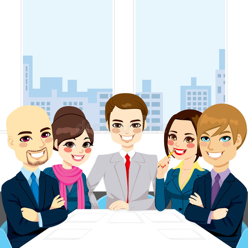 Wirtschaftler-Büro-Sitzung vektor abbildung