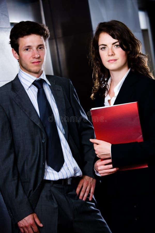 Wirtschaftler - Unternehmensportrait stockfotografie