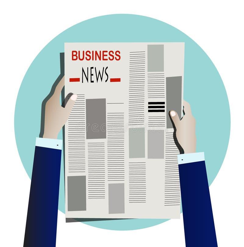 Wirtschaftlerlesezeitung lizenzfreie stockbilder