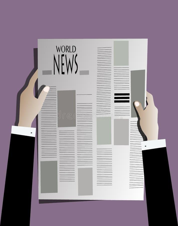 Wirtschaftlerlesezeitung lizenzfreie stockfotografie