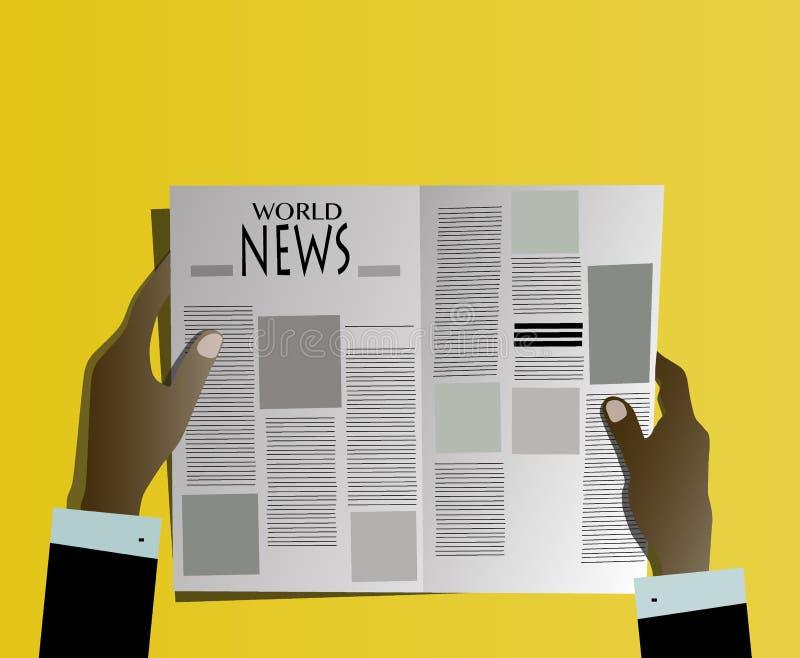 Wirtschaftlerlesezeitung stockbild