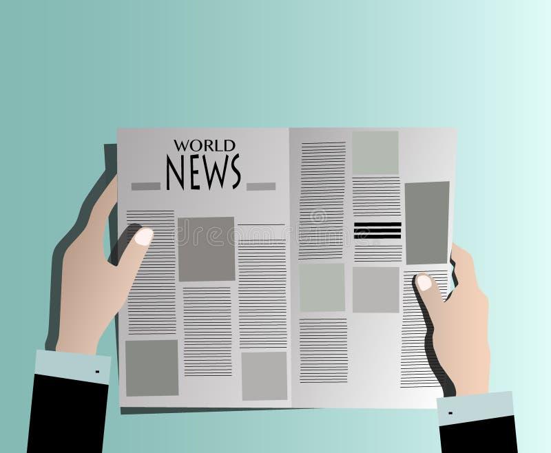 Wirtschaftlerlesezeitung lizenzfreies stockbild