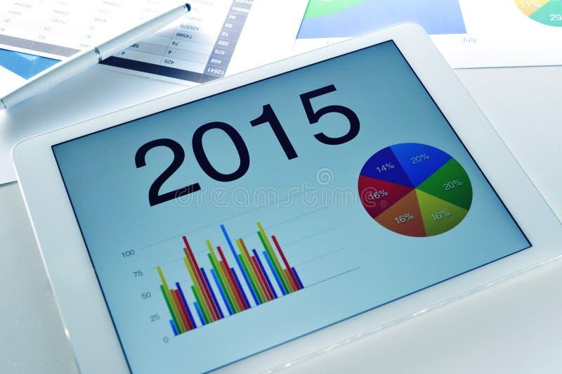 Wirtschaftliche Prognose für 2015 stockbilder