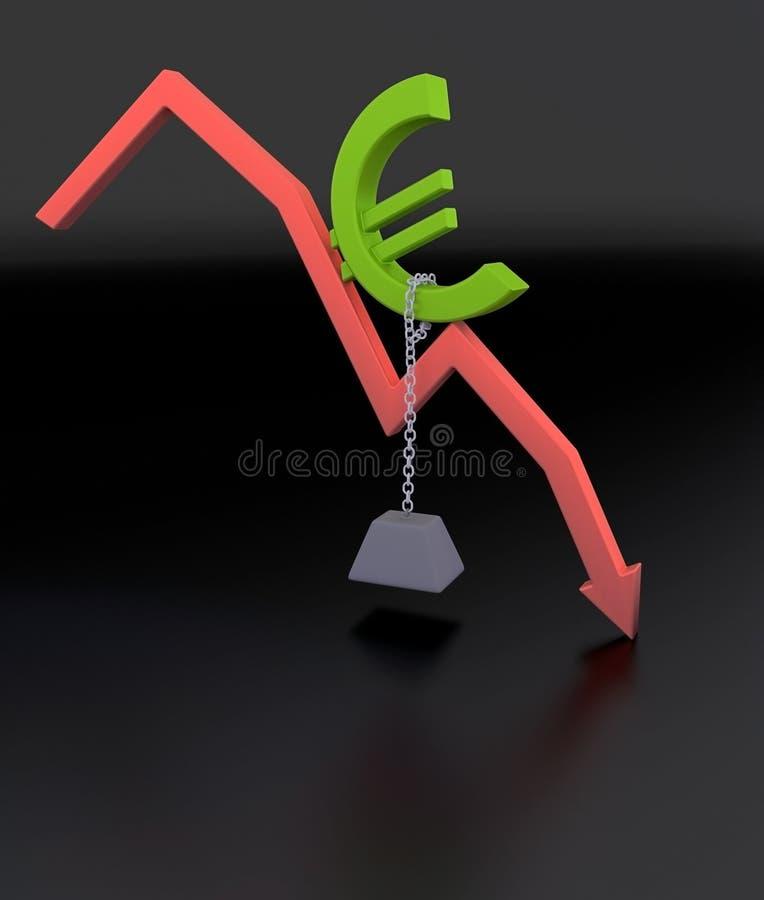 Wirtschaftlichkeit-Krisen-Diagramm stock abbildung