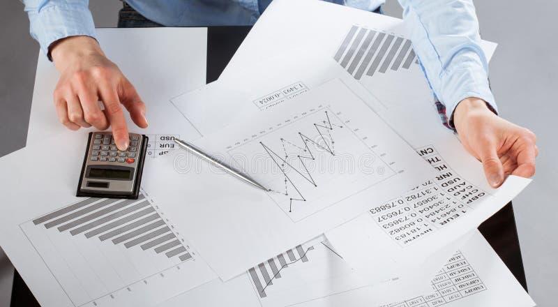 Wirtschaftsanalytikerfunktion lizenzfreies stockfoto