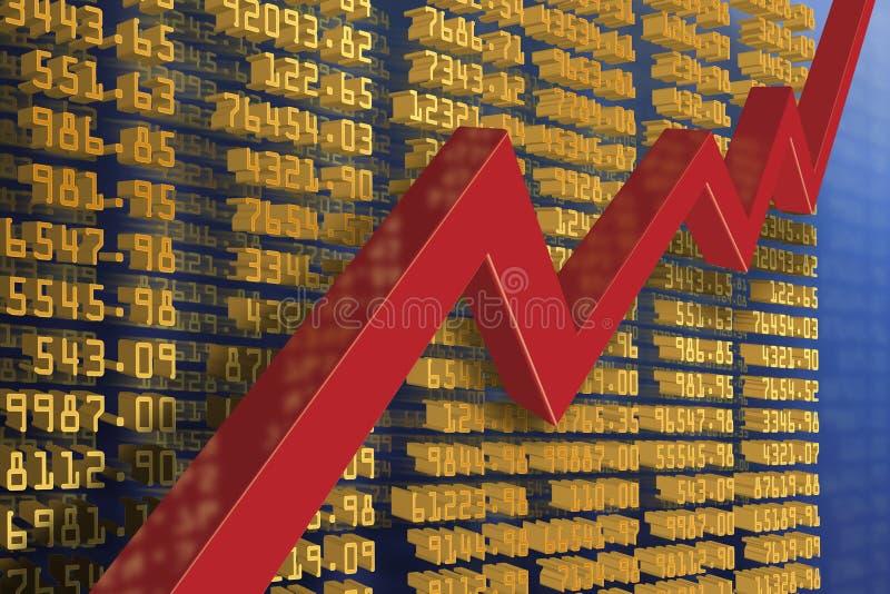 Wirtschaftsaufschwung stock abbildung