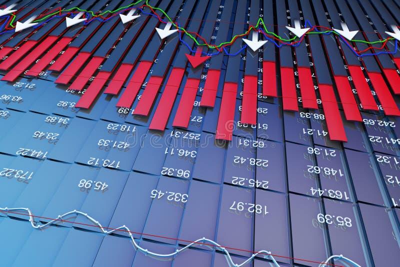 Wirtschaftsindikatoren und bewegen sich vorwärts mit dem Pfeil vektor abbildung