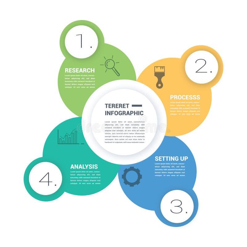 Wirtschaftskreis, der infographic Elemente trifft stockfoto