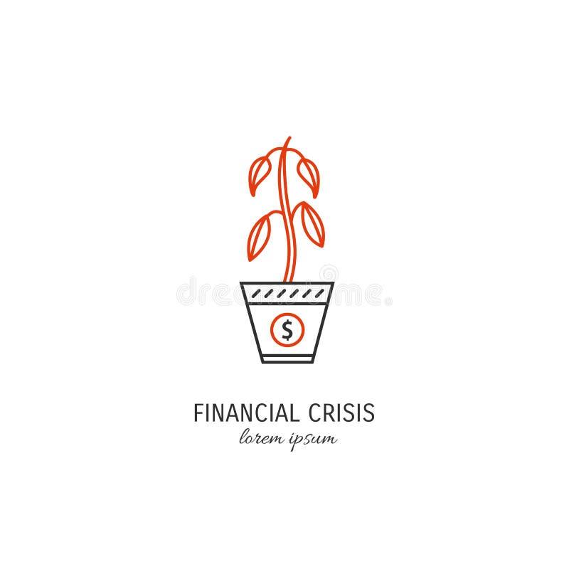 Wirtschaftskriseikone lizenzfreie abbildung