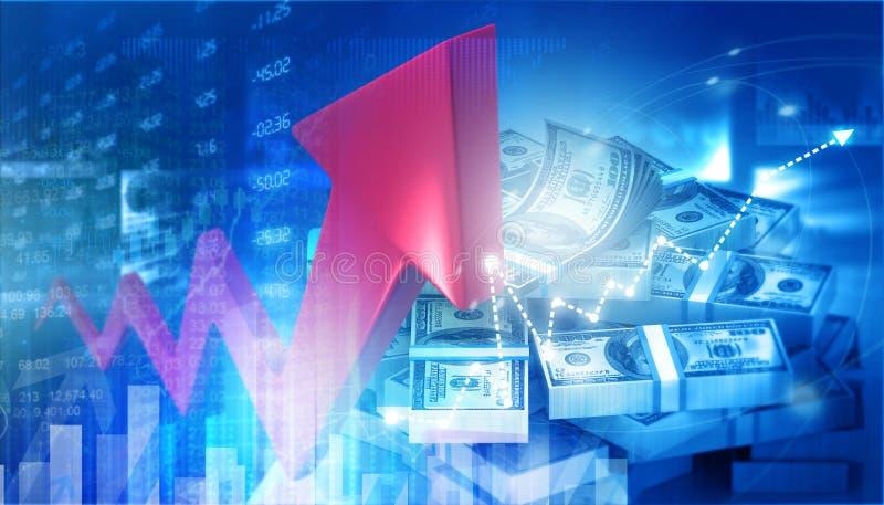 Wirtschaftswachstumshintergrund lizenzfreie abbildung