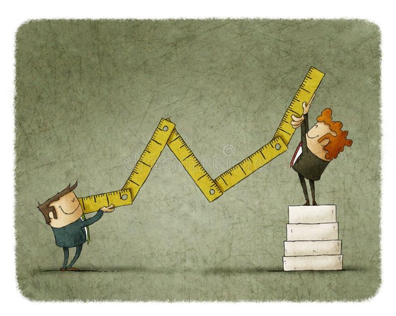 Wirtschaftswachstumskonzept lizenzfreie abbildung