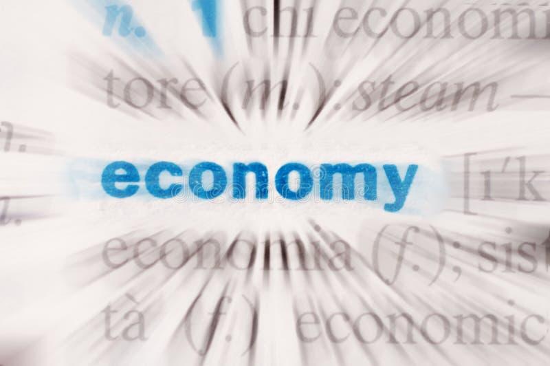Wirtschaftswort lizenzfreies stockbild