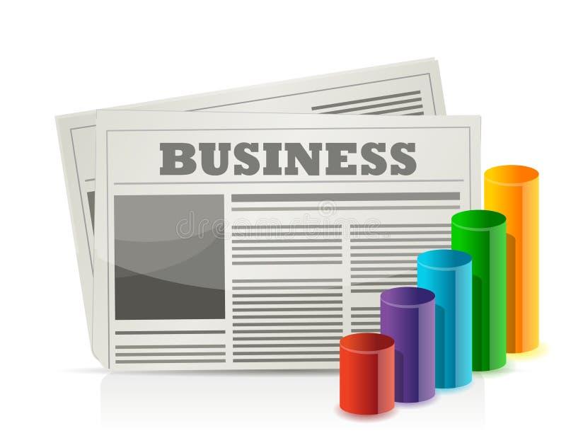 Wirtschaftszeitung- und Diagrammabbildungauslegung vektor abbildung
