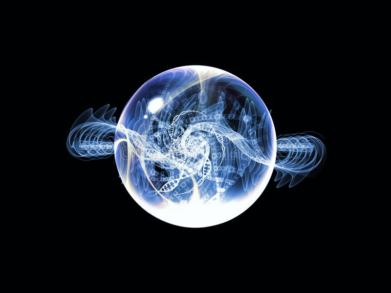 Wirtualna Falowa cząsteczka obraz stock