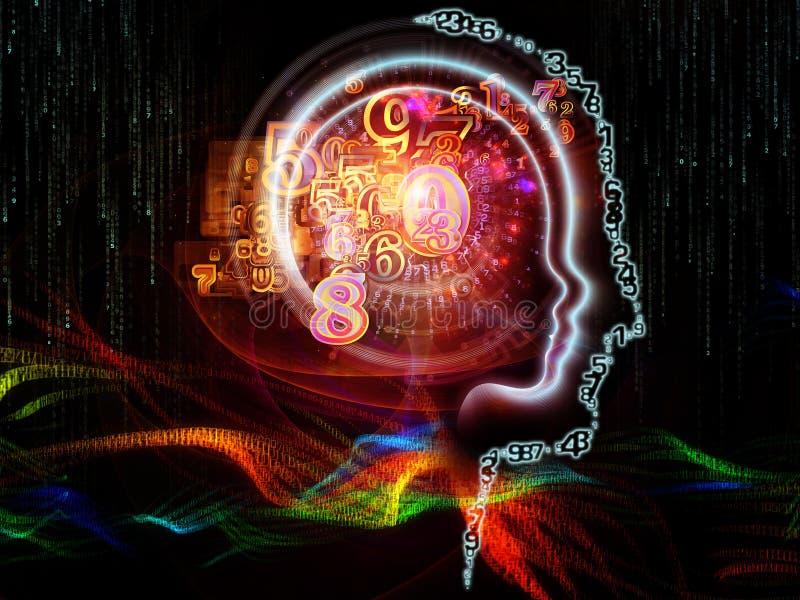 Wirtualna Ludzka technologia ilustracja wektor