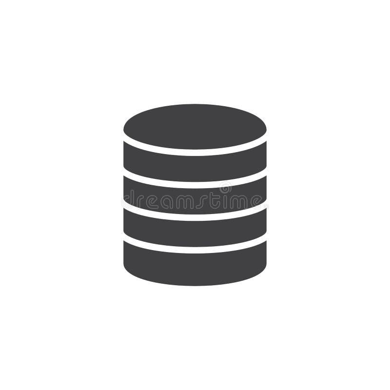 Wirtualnej bazy danych ikony składowy wektor royalty ilustracja