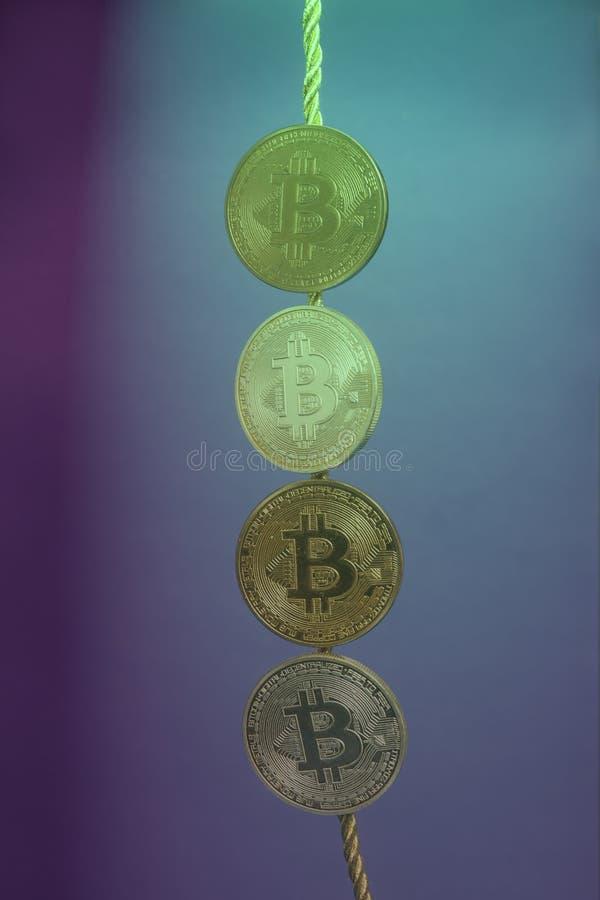 Wirtualni monet bitcoins inkasowi obraz royalty free