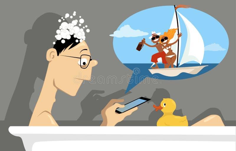 Wirtualny życie ilustracja wektor