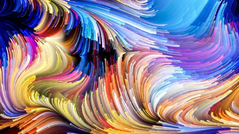 Wirtualny życie Ciekły kolor ilustracja wektor