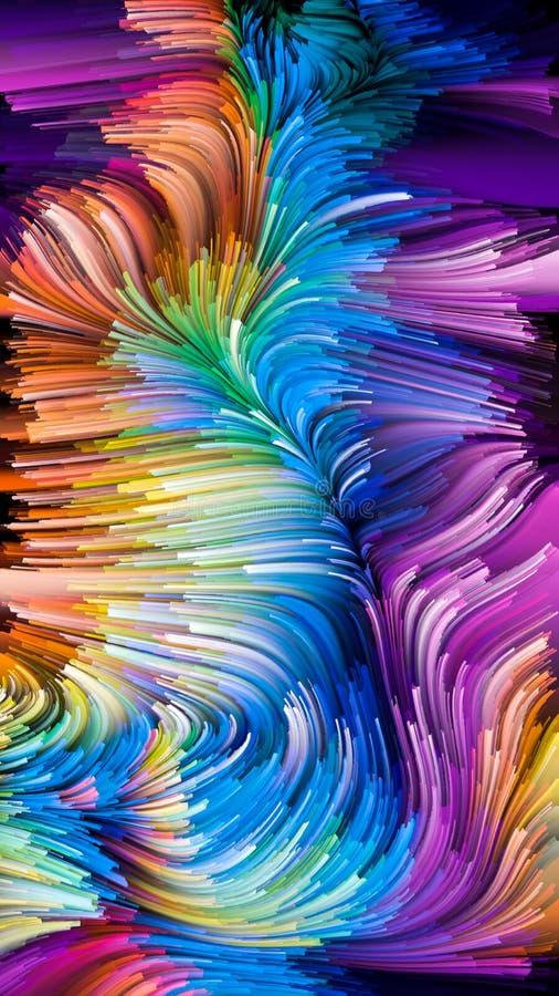 Wirtualny życie Ciekły kolor ilustracji
