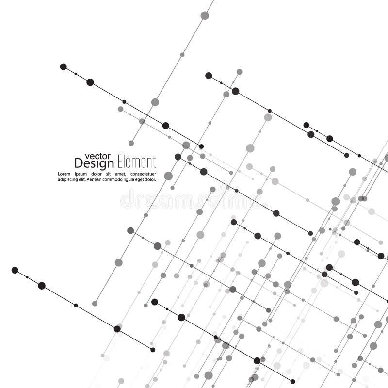 Wirtualny abstrakcjonistyczny tło ilustracja wektor