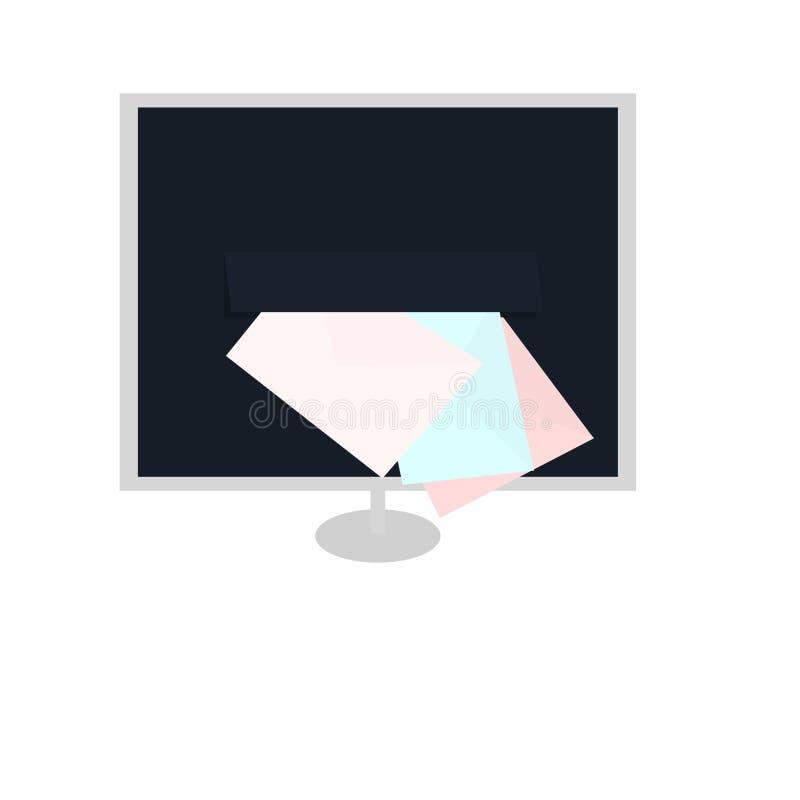 wirtualny emaila letterbox ilustracja wektor