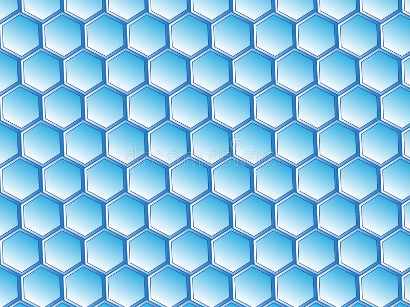 Wirtualny Honeycomb projekt royalty ilustracja