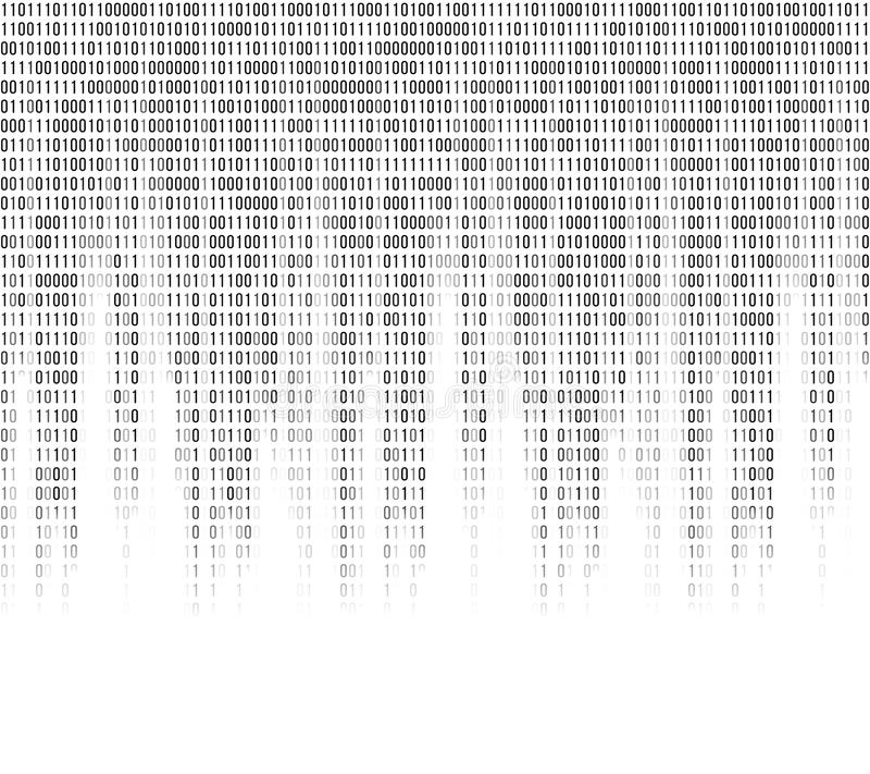 Wirtualny komputerowy binarnego kodu abstrakta tło ilustracji