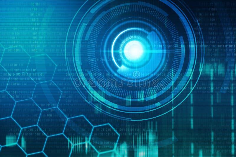 Wirtualny technologii tło ilustracja wektor