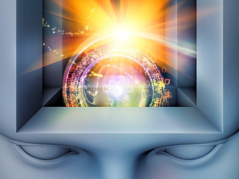 Wirtualny umysł obraz royalty free