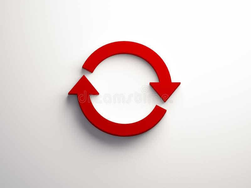 Wiruje Czerwonego symbol ilustracja 3 d, ilustracji