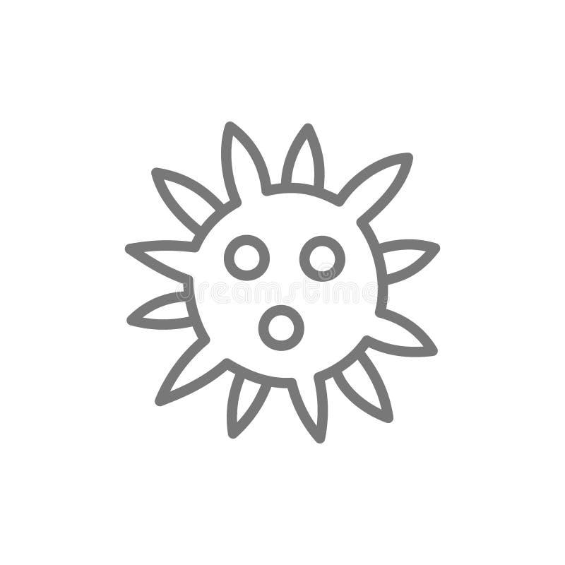 Wirus, bakterie wykłada ikonę ilustracji