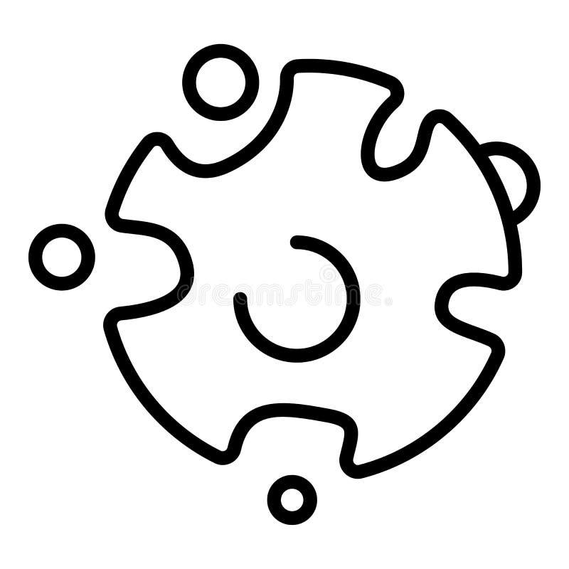 Wirus infekuje gronkowiec ikonę, konturu styl ilustracji