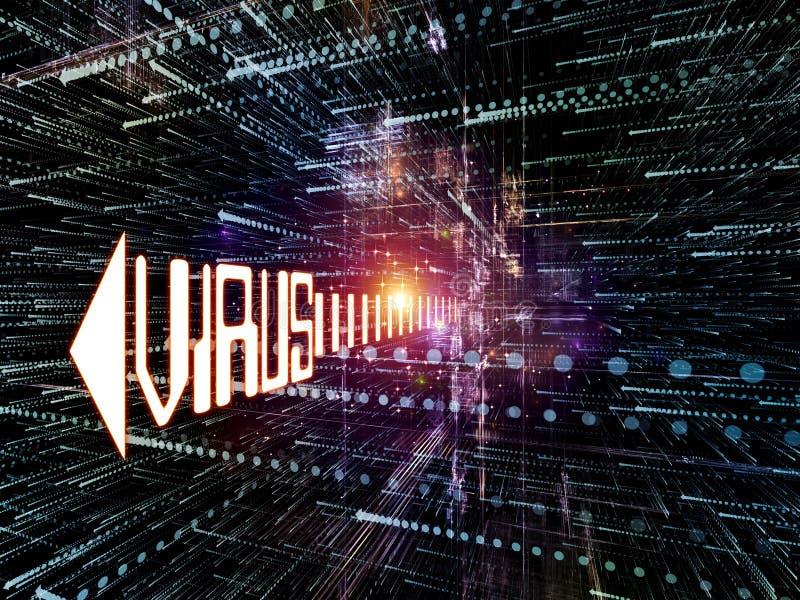 wirus komputerowy ilustracja wektor
